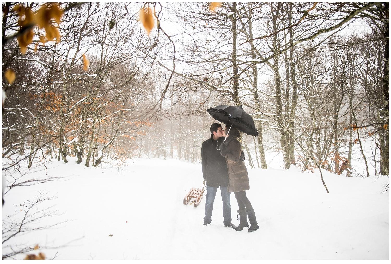photos de couple dans la neige