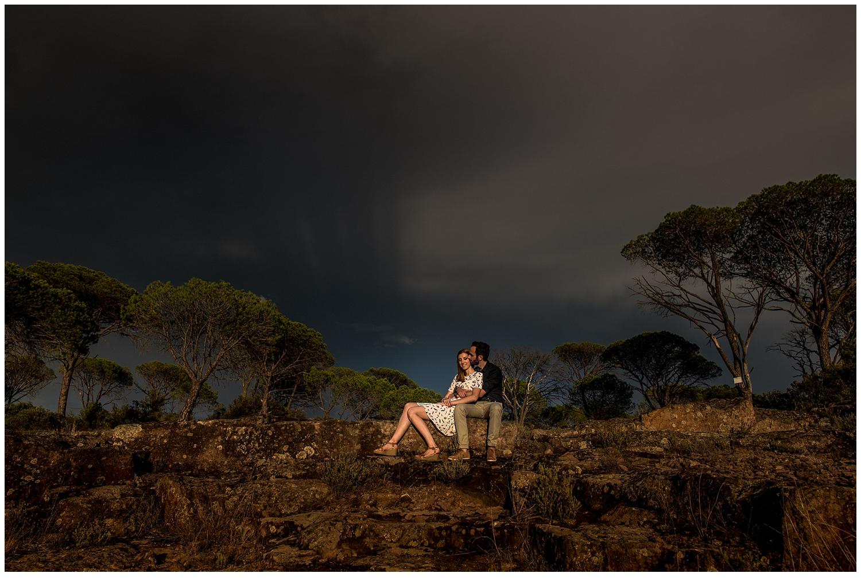 couple dans le massif des maures