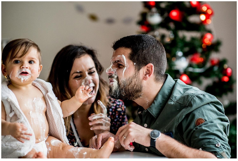 Chantilly party pour une séance photo de famille