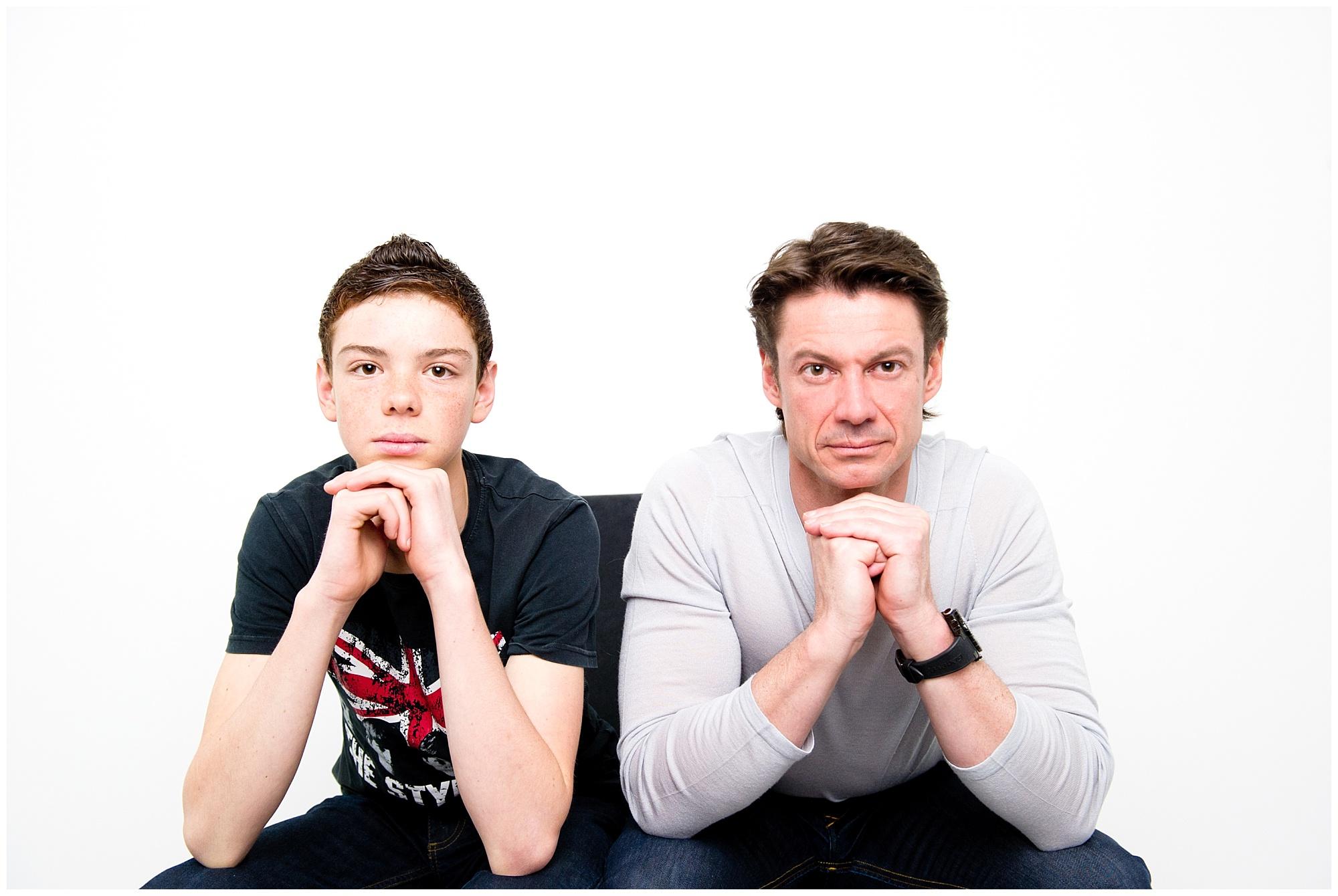 Séance Père et fils en studio