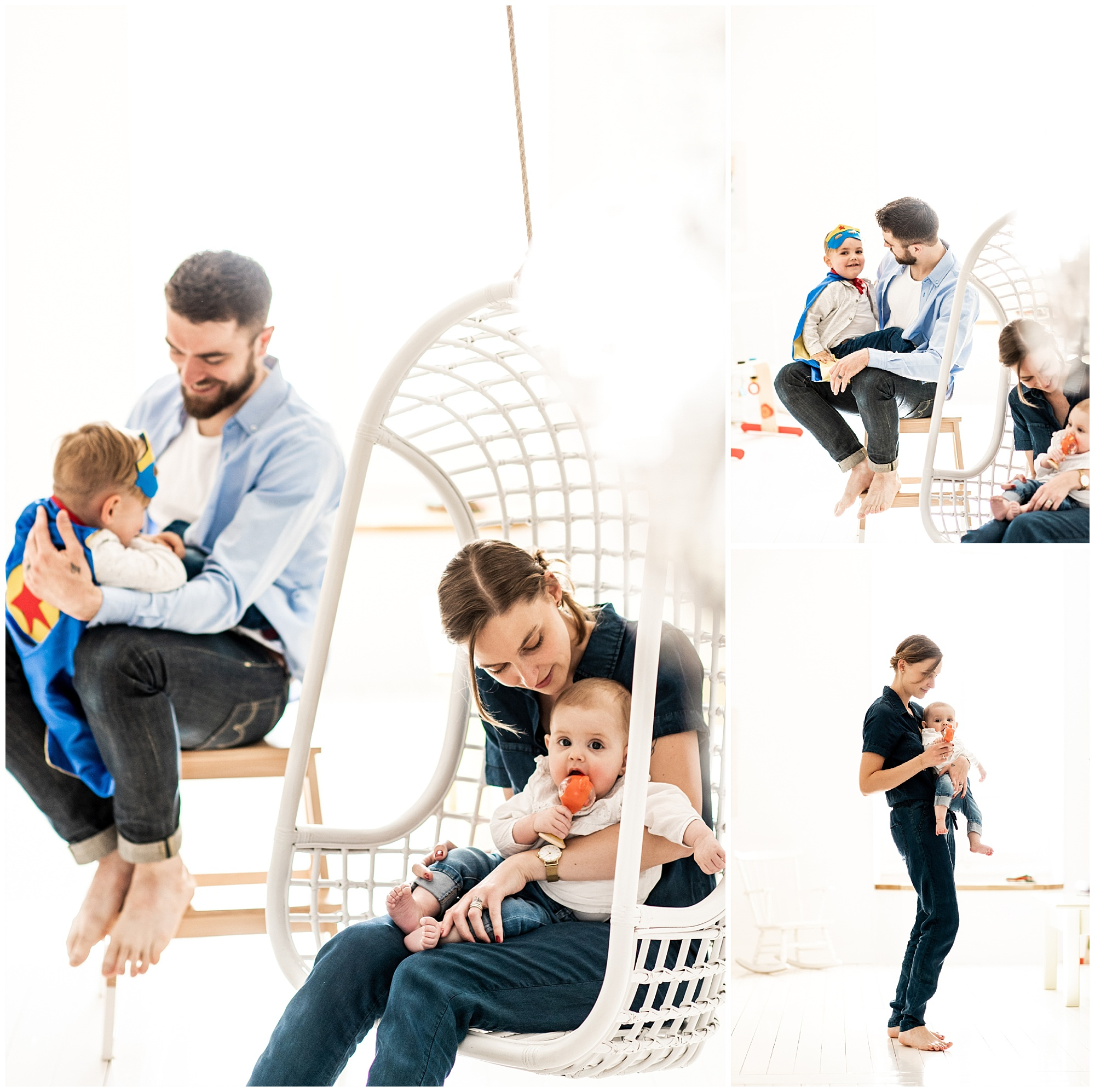 Une séance famille dans la maison du bonheur